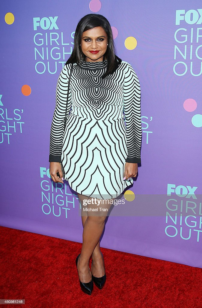 Mindy Kaling arrives at Fox's 'Girls Night Out' held at Leonard H. Goldenson Theatre on June 9, 2014 in North Hollywood, California.