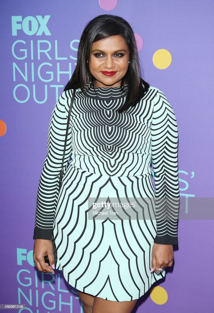 <a gi-track='captionPersonalityLinkClicked' href=/galleries/search?phrase=Mindy+Kaling&family=editorial&specificpeople=743884 ng-click='$event.stopPropagation()'>Mindy Kaling</a> arrives at Fox's 'Girls Night Out' held at Leonard H. Goldenson Theatre on June 9, 2014 in North Hollywood, California.