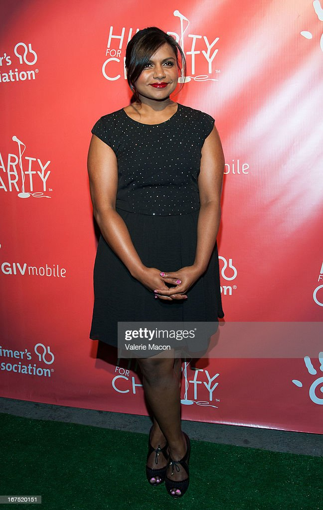 Mindy Kaling arrives at the 2nd Annual Hilarity for Charity Event at Avalon on April 25, 2013 in Hollywood, California.