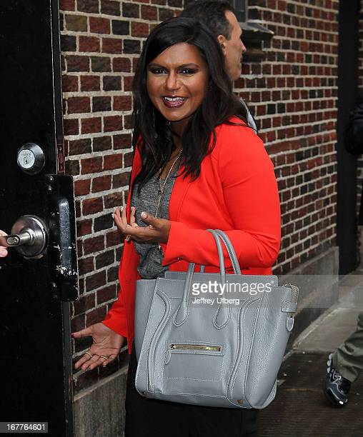 Mindy Kaling at Ed Sullivan Theater on April 29 2013 in New York City