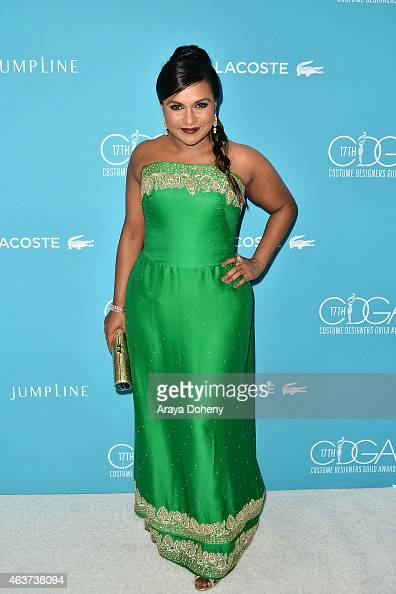 Mindy Kaling attends the 17th Costume Designers Guild Awards at The Beverly Hilton Hotel on February 17 2015 in Beverly Hills California