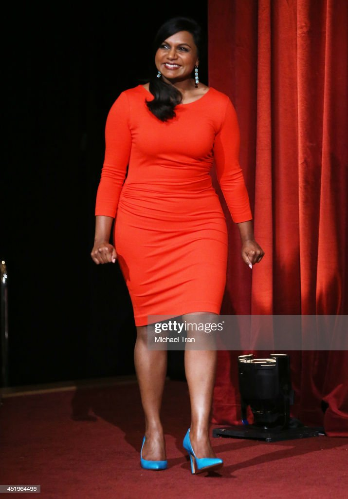 <a gi-track='captionPersonalityLinkClicked' href=/galleries/search?phrase=Mindy+Kaling&family=editorial&specificpeople=743884 ng-click='$event.stopPropagation()'>Mindy Kaling</a> attends the 66th Primetime Emmy Awards nominations held at Leonard H. Goldenson Theatre on July 10, 2014 in North Hollywood, California.