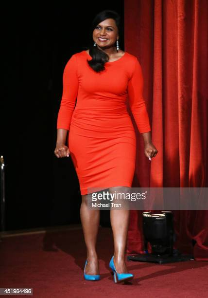 Mindy Kaling attends the 66th Primetime Emmy Awards nominations held at Leonard H Goldenson Theatre on July 10 2014 in North Hollywood California