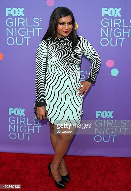 Mindy Kaling attends the FOX's 'Girls Night Out' QA and Champagne Bar Reception on June 9 2014 held at the Leonard H Goldenson Theatre in North...
