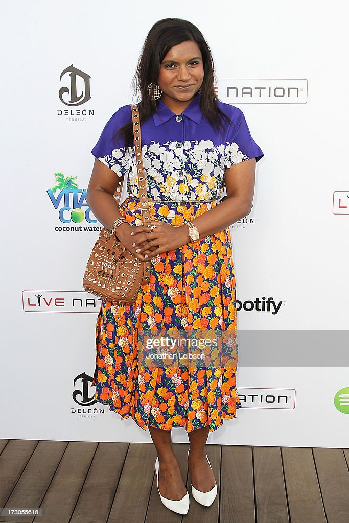 <a gi-track='captionPersonalityLinkClicked' href=/galleries/search?phrase=Mindy+Kaling&family=editorial&specificpeople=743884 ng-click='$event.stopPropagation()'>Mindy Kaling</a> attends the Guy Oseary's July 4th event in Malibu presented by Spotify and Live Nation with DeLeon and VitaCoco at Nobu Malibu on July 4, 2013 in Malibu, California.