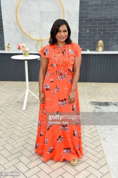 Mindy Kaling attends the Hulu Upfront Brunch at La Sirena Ristorante on May 3 2017 in New York City