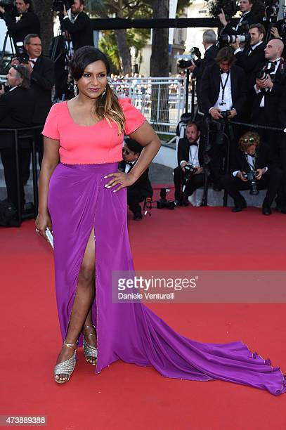 Mindy Kaling attends the 'Inside Out' Premiere during the 68th annual Cannes Film Festival on May 18 2015 in Cannes France
