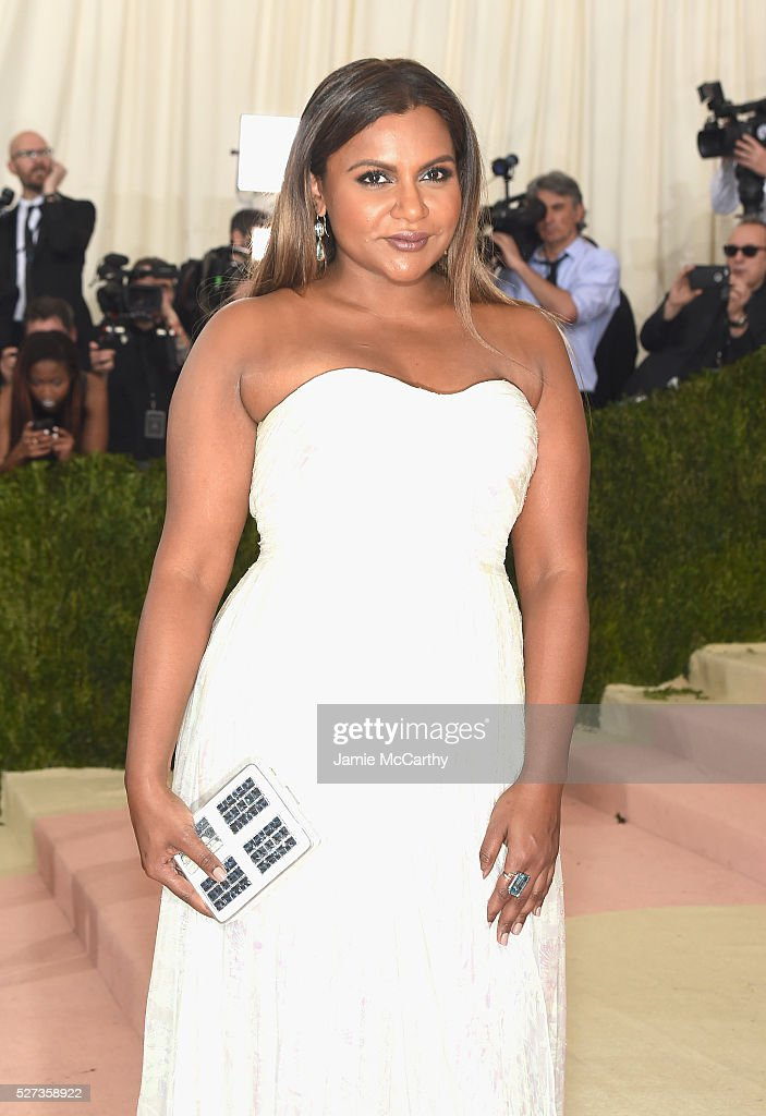 Mindy Kaling attends the 'Manus x Machina: Fashion In An Age Of Technology' Costume Institute Gala at Metropolitan Museum of Art on May 2, 2016 in New York City.