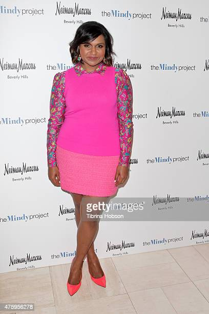 Mindy Kaling attends The Mindy Project costume design event at Neiman Marcus on June 4 2015 in Beverly Hills California