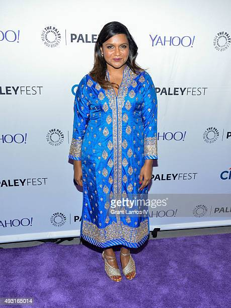 Mindy Kaling attends 'The Mindy Project' during PaleyFest New York 2015 at the Paley Center for Media on October 17 2015 in New York City