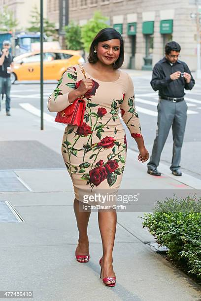 Mindy Kaling is seen in New York City on June 17 2015 in New York City