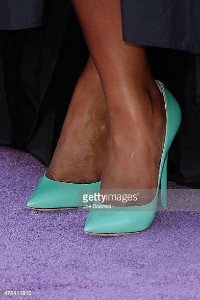 Mindy Kaling shoe detail attends Disney/Pixar's 'Inside Out' Los Angeles Premiere at the El Capitan Theatre on June 8 2015 in Hollywood California