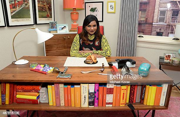 Mindy Kaling unveils The Mindy Burger for Umami Burger benefiting Pancreatic Cancer Action Network on September 11 2015 in Universal City California