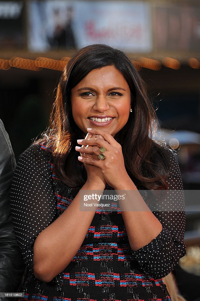 Mindy Kaling visits Extra at The Grove on February 11, 2013 in Los Angeles, California.