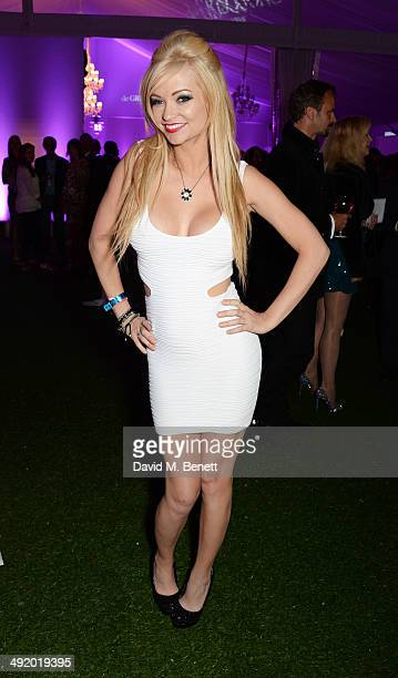 Mindy Robinson attends 'The Expendables 3' private dinner and party at Gotha Night Club at Palm Beach on May 18 2014 in Cannes France