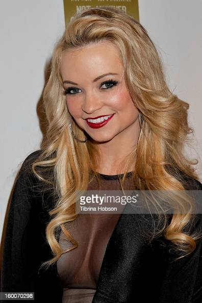 Mindy Robinson attends the 'Not Another Celebrity Movie' Los Angeles premiere at Pacific Design Center on January 17 2013 in West Hollywood California