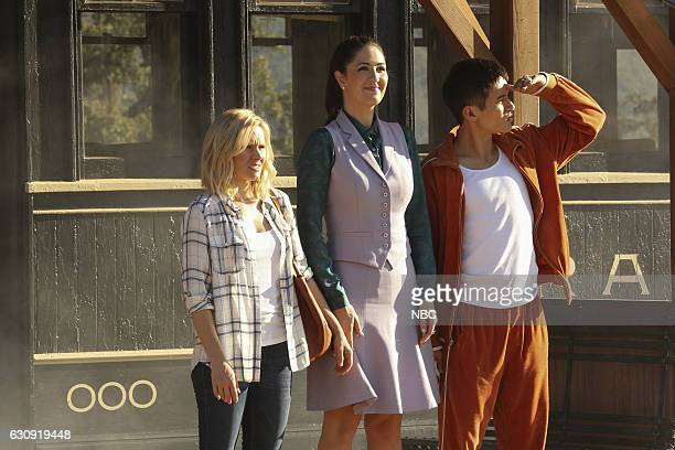 PLACE 'Mindy St Claire' Episode 112 Pictured Kristen Bell as Eleanor Shellstrop D'Arcy Carden as Janet DellaDenunzio Manny Jacinto as Jianyu