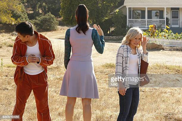 PLACE 'Mindy St Claire' Episode 112 Pictured Manny Jacinto as Jianyu Kristen Bell as Eleanor Shellstrop