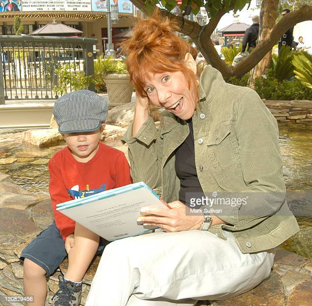 Mindy Sterling reading to a child during Screen Actors Guild Foundation Presents BookPALS at The Grove in Los Angeles California United States