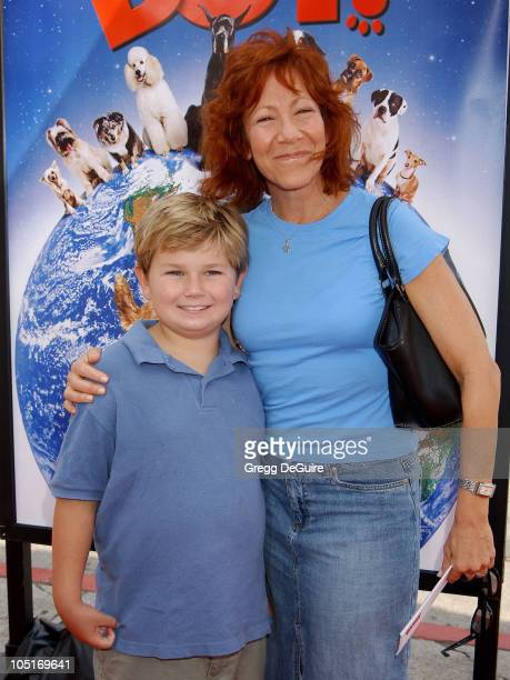 Mindy Sterling Son Max during 'Good Boy' Premiere at Mann Village Theatre in Westwood California United States