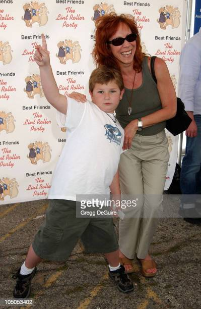 Mindy Sterling son Max during The Lint Roller Party at Barker Hanger in Santa Monica California United States