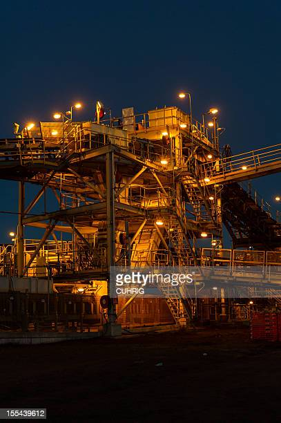 Mine processing infrastructure at sunrise