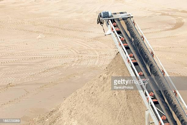 Mine Screening Conveyor Depositing Sorted Sand