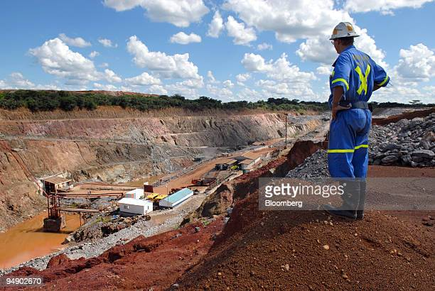 A mine supervisor overlooks Metorox's Chibuluma copper mine near Kitwe Zambia on Thursday Feb 7 2008 The price of copper Zambia's largest export has...
