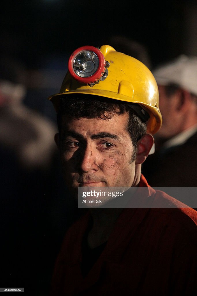 A miner awaits trapped friends on May 14 2014 in Soma Turkey Rescuers pulled more dead and injured from the coal mine in western Turkey on Wednesday...