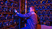 miner bitcoin cryptocurrency farm mining virtual money