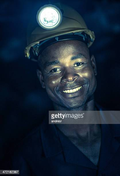 Miner in a dark tunnel