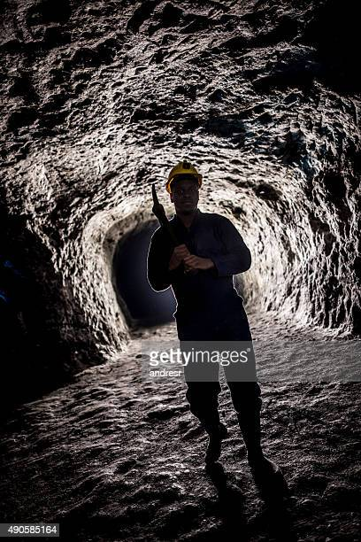 Miner working at a mine