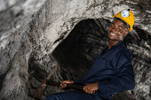 Miner working at the mine