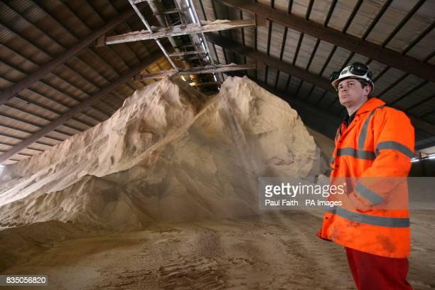 Mineral Surveyor Jason Hopps at the Irish Salt Mining Exploration Co site in Kilroot Carrickfergus Co Antrim The company has been mining DeIcing Rock...