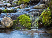 Mineral water in a glass