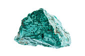 Minerals: Malachite isolated on white background