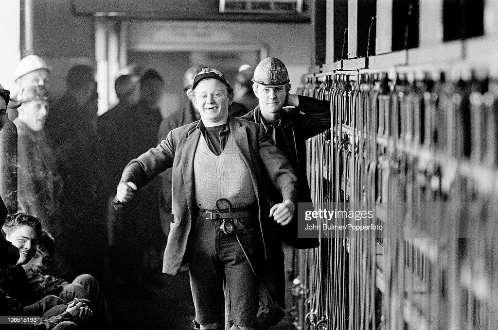 Miners at Dawdon Colliery, County Durham, circa 1963.