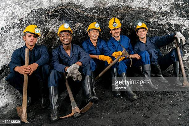 Miners in einer mine