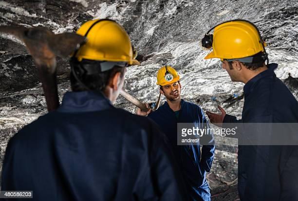 Miners talking