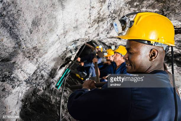 Miners working at a mine