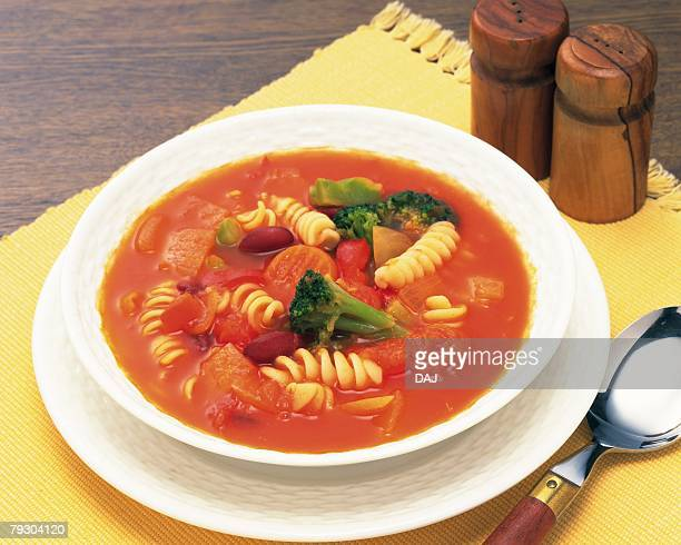Minestrone Soup, High Angle View