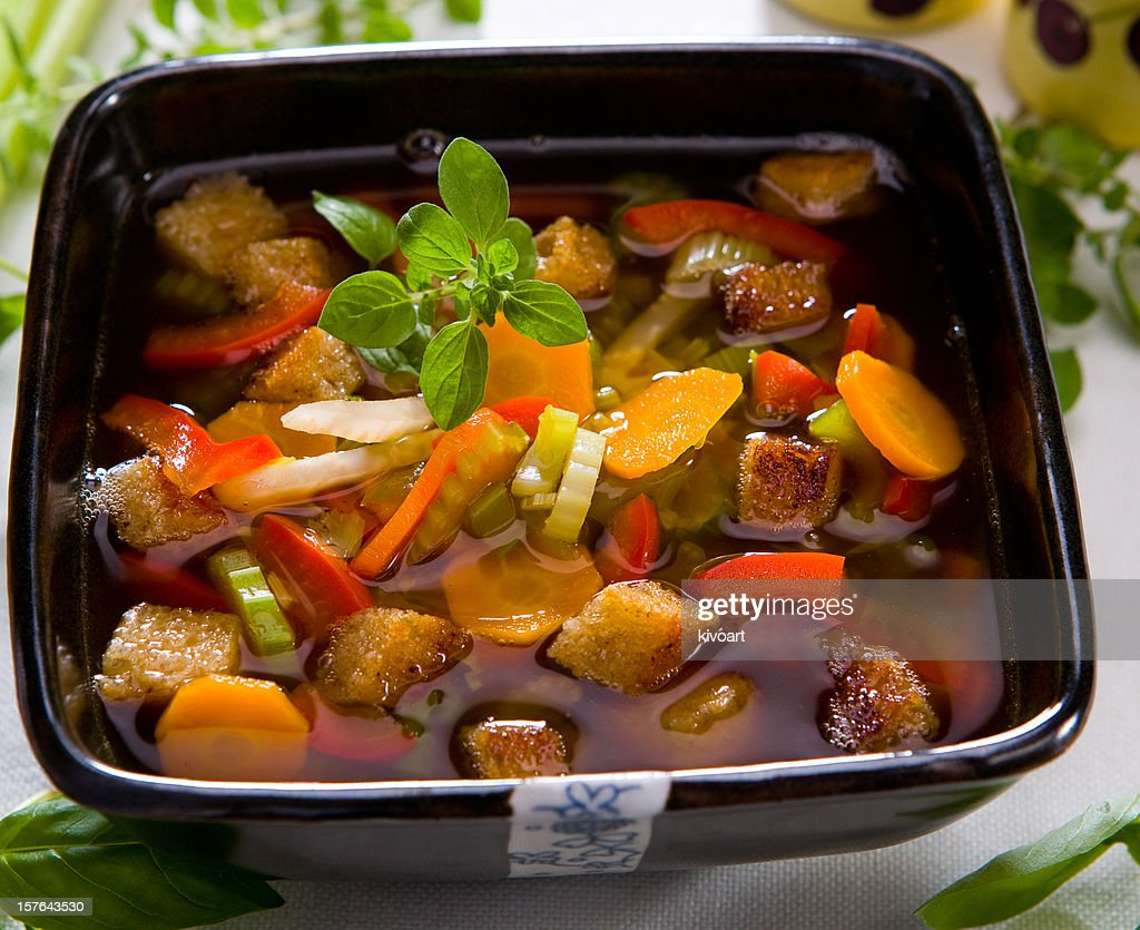 minestrone soup : Stock Photo