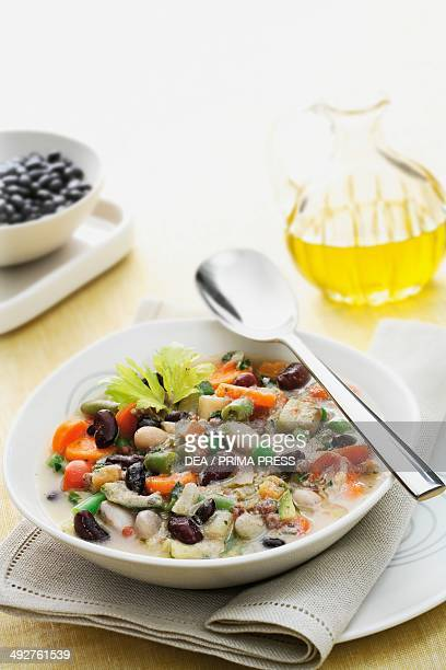 Minestrone with vegetables and beans