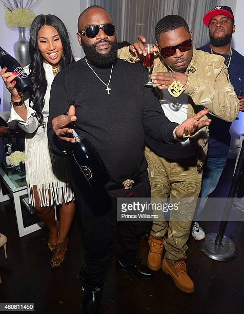 Ming Lee and Rick Ross attend SnobLife's Winter Wonderland at The B Loft on December 15 2014 in Atlanta Georgia