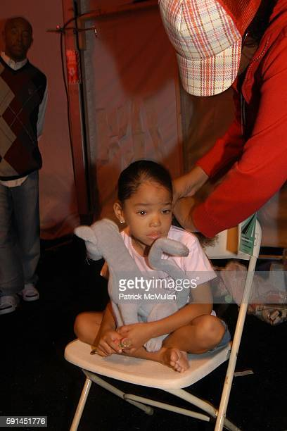 Ming Lee Simmons attends Child Magazine Fashion Show at The Atelier Tent at Bryant Park on February 7 2005 in New York City
