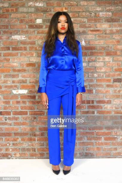 Ming Lee Simmons poses for the Kimora Lee Simmons Presentation during New York Fashion Week at The Bowery Hotel on September 13 2017 in New York City