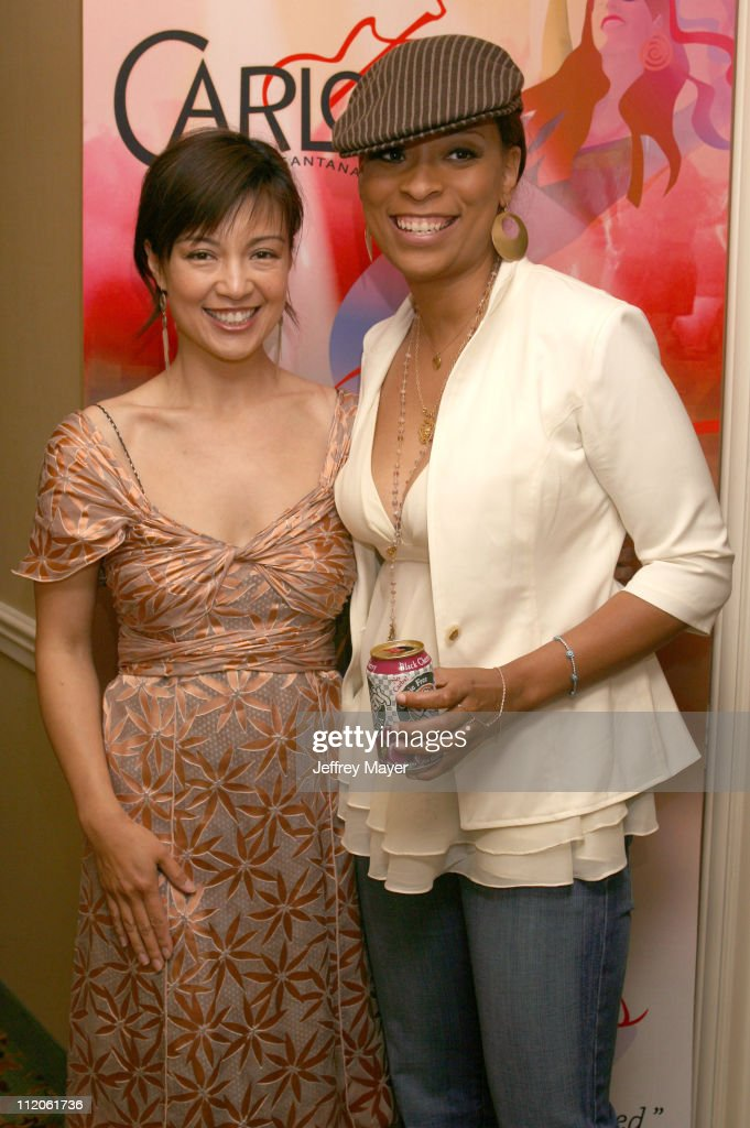 Ming Na and Jayneoni during Jayneoni's PreMTV Movie Awards Birthday and Fashion Bash at Park Hyatt Hotel in Los Angeles California United States