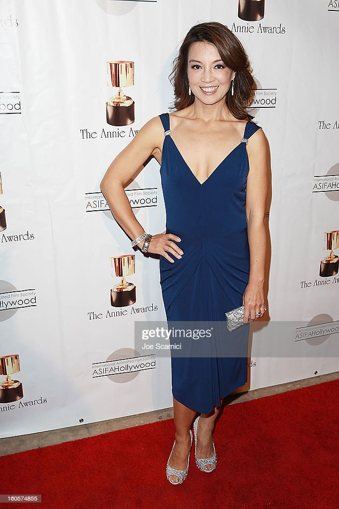 Ming Na arrives at the 40th Annual Annie Awards at Royce Hall on the UCLA Campus on February 2, 2013 in Westwood, California.