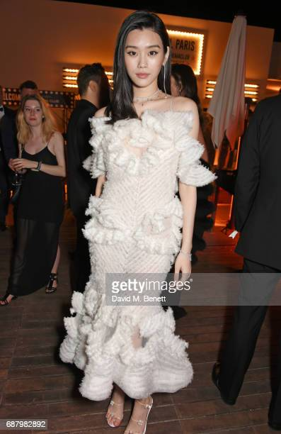 Ming Xi attends the L'Oreal Paris Cinema Club party celebrating L'Oreal's 20th anniversary as the official beauty partner of the Cannes Film Festival...