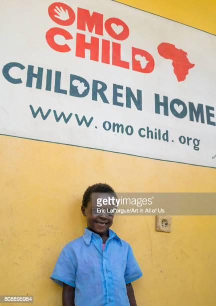 Mingi girl called Tensai in Omo child foundation Omo valley Jinka Ethiopia on June 10 2017 in Jinka Ethiopia